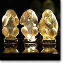 Lalique Wisdom Three Wise Monkey Set