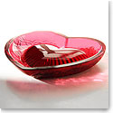 Lalique Love Heart Vanity Bowl, Red