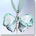 Lalique Large Pendant Papillon Butterfly Silver and Lagoon