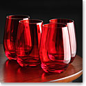 Marquis By Waterford Vintage Red Stemless Wine, Set of 4