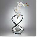 Nambe Metal Infinity Bud Vase, Large, With Silk Orchid 12""