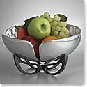 Nambe Metal Anvil Petal Fruit Bowl 11in
