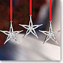 Nambe 2017 Mini Classic Modern Star Ornament, Set of 3