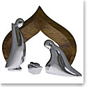 Nambe Nativity Holy Family, 4 Piece set