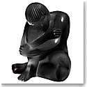 Lalique Nude Sage Sculpture, Black