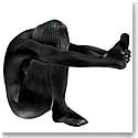 Lalique Nude Temptation Sculpture, Black