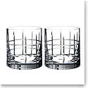 Orrefors Street Double Old Fashion DOF, Pair