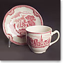 "Johnson Brothers Old Britain Castles 6 1/4"" Pink Bread and Butter Plate, Single"
