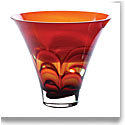 Waterford Evolution Red/Amber Bowl 8in