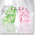 Swarovski Lovlots Bunny Rabbits In Love George and Georgina