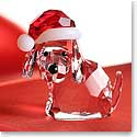 Swarovski Dog With Santas Hat