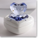 Swarovski Heart Box, Blue