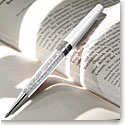 Swarovski Crystalline Stardust Ballpoint Pen, Diamond Crystal and White
