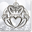 Waterford 2016 Claddagh Ornament, Clear