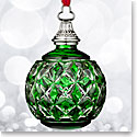Waterford 2016 Green Cased Ball Ornament