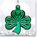 Waterford 2017 Green Shamrock Ornament