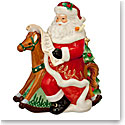 Waterford 2017 Holiday Heirloom Nostalgic Collection Rocking Horse Santa Cookie Jar