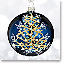 Waterford 2017 Holiday Heirloom Winter Frost Navy Winter Tree Ball Ornament