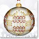 Waterford 2017 Holiday Heirloom Dungarvan Silver Ball Ornament