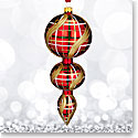 Waterford 2017 Holiday Heirloom Nostalgic Collection Plaid Triple Spire Ornament