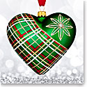 Waterford 2017 Holiday Heirloom Nostalgic Collection Plaid Heart Ornament