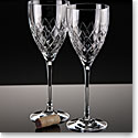 Waterford Crosslake Wine Glasses, Pair