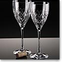 Waterford Crosslake Wine Glasses, Pair