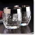 Waterford Mad Men Draper DOF With Platinum Band, Pair