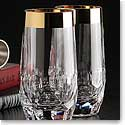 Waterford Mixology Mad Men Draper Hi Ball With Gold Band, Pair