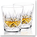 Waterford Huntley Old Fashioned Whiskey Glasses, Pair