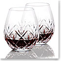 Waterford Crystal, Huntley Stemless Red Wine Glasses, Pair