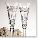 Waterford Lismore Celebrations Toasting Flute, Pair