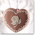 Wedgwood Breastcancer.org Heart Pink Ornament