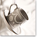 Wedgwood Teacup and Saucer Grey Ornament