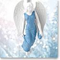 Wedgwood 2017 Figural Angel Blue Ornament
