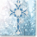 Wedgwood 2017 Figural Cross Blue Ornament
