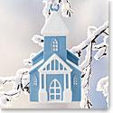 Wedgwood 2017 Figural Church Blue Ornament