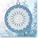 Wedgwood 2017 Neoclassical Disc Blue Ornament