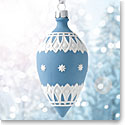 Wedgwood 2017 Neoclassical Teardrop Blue Ornament