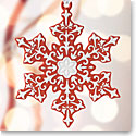 Wedgwood 2017 Snowflake Red Ornament
