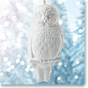 Wedgwood 2017 Figural Owl White Ornament