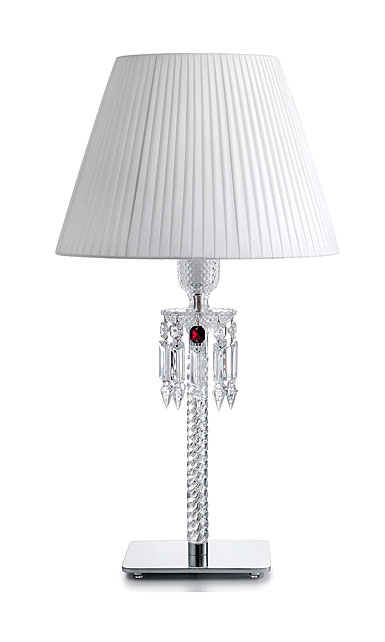 Baccarat Torch Lamp Ul With White Shade By Arik Levy