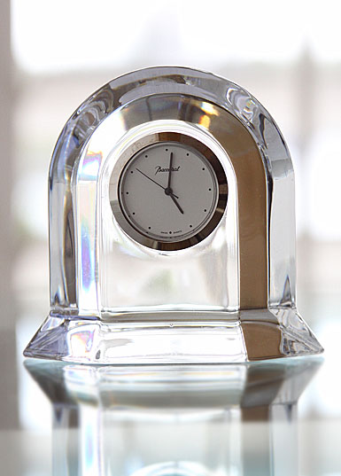 Baccarat Vega Small, Clear Clock