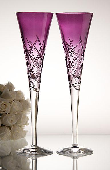 Vera wang wedgwood duchesse encore lavender toasting flutes pair - Vera wang martini glasses ...