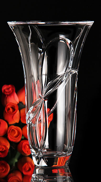 Vera Wang Love Knots 10in vase