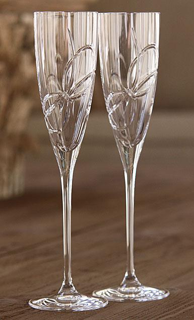 Vera wang wedgwood love knots crystal flutes - Vera wang martini glasses ...