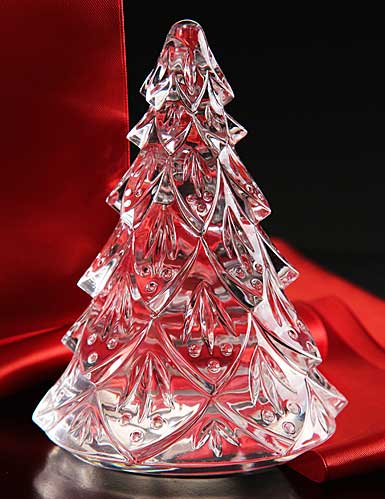 Waterford Large Christmas Tree Sculpture, Clear