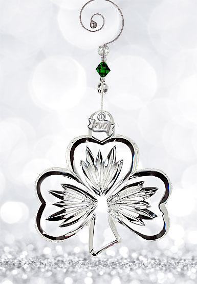 Waterford 2017 Shamrock Ornament