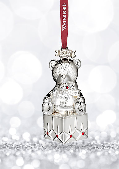 Waterford 2017 Silver Baby's First Ornament