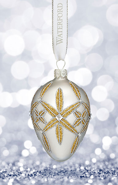 Waterford 2017 Holiday Heirloom Winter Frost Lismore Egg Ornament